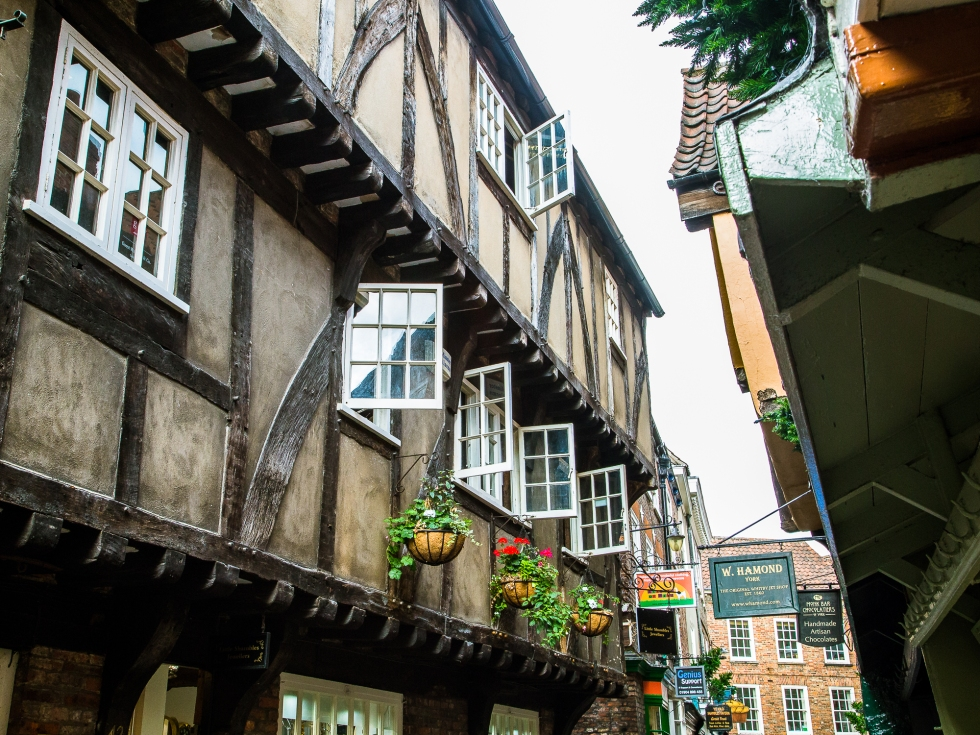 Open Windows look out onto the Shambles, York