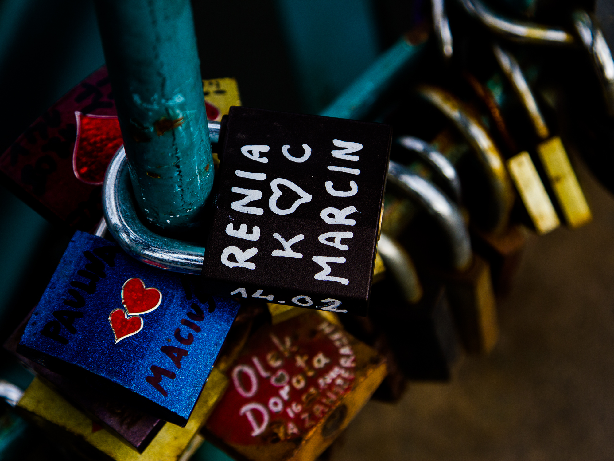 A padlock in Wroclaw, Poland