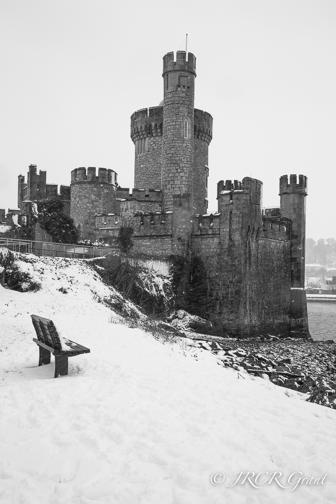 Image of Blackrock Castle, Cork in the snow of 2018