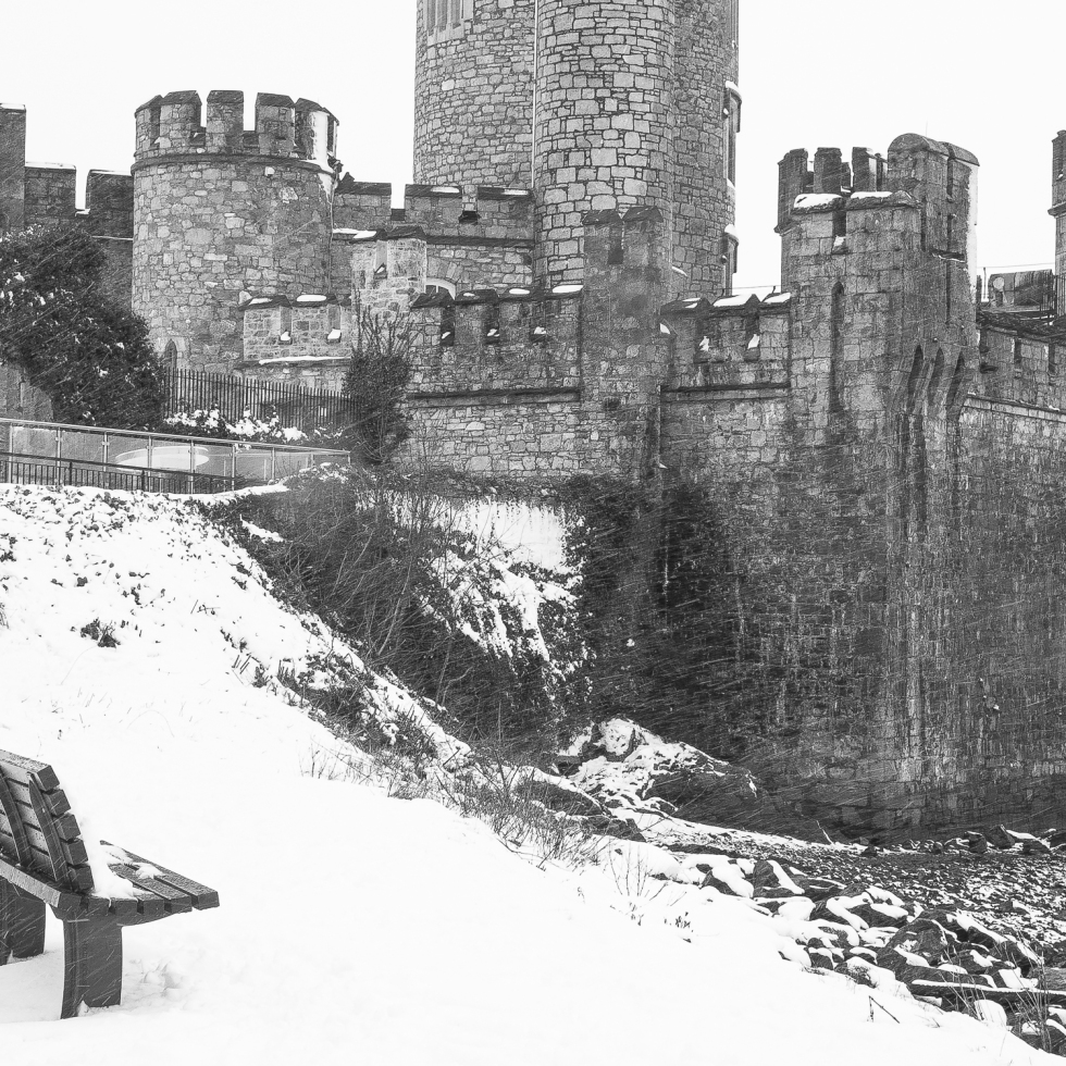 Blackrock Castle adorned in a white blanket of snow