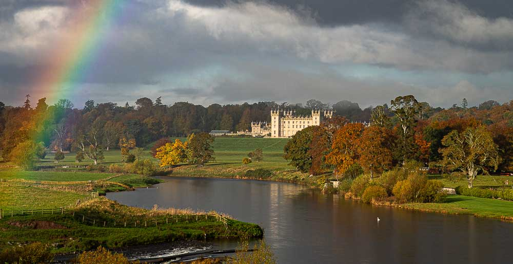 Floors Castle in Scotland, standing on the Banks of the Tweed