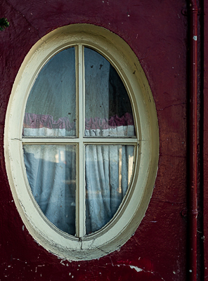 The Oval Window of a cork City Bar
