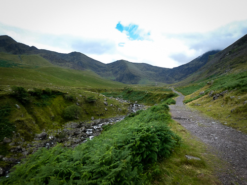 Hag's Glen valley leading up to the Devil's Ladder