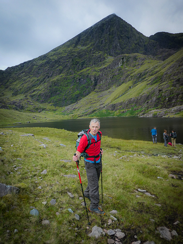 The author stands with carrauntoohil towering behind