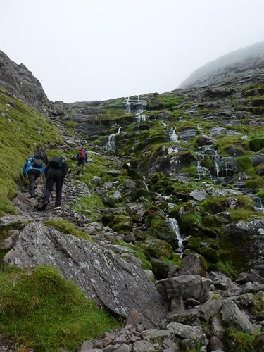 A guided walk up Carrauntoohil passes by a series of cascades