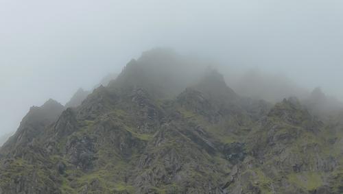 Rock Pinnacles on the slopes of Carrauntoohil, Ireland's highest mountain