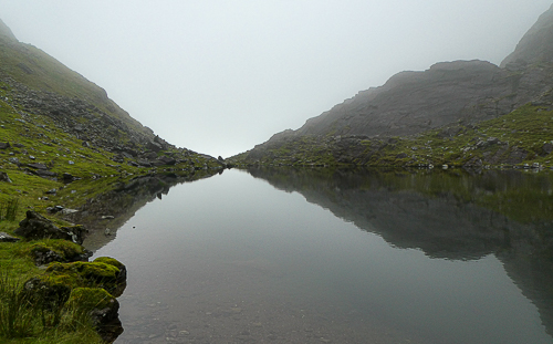 Ireland's highest lake, a natural infinity pool