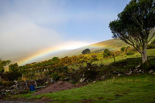A rainbow provides the promise of sunshine and rain