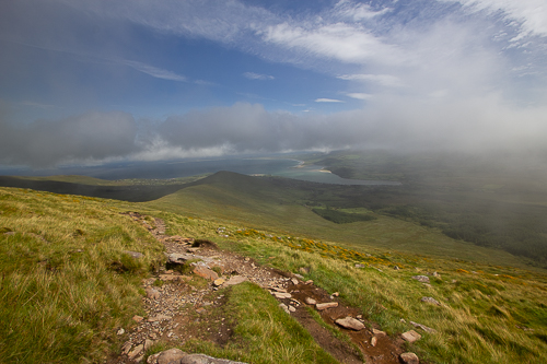 The view along the Faha Ridge and along the edge of Tralee Bay