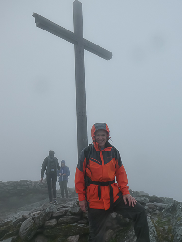 The author at the top of Carrauntoohil