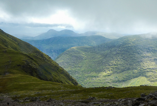 Looking out in the direction of Kenmare, the Black Valley in the foreground