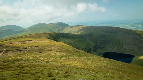 Looking in a southerly direction from Galtymore to see Lough Curra