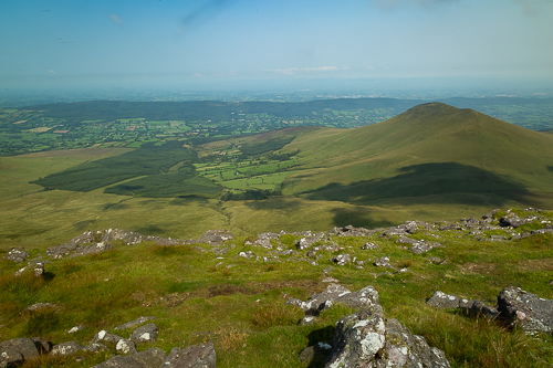 The view from Galtybeg looking easterly over the Suir Plain the