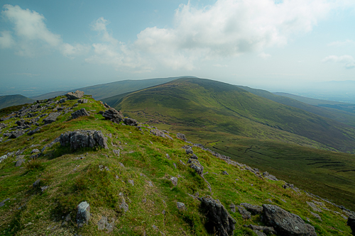 The view to the north from Galtybeg, along the ridge